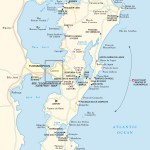 Travel map of Ilha de Santa Catarina, Brazil