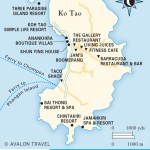 Travel map of Ko Tao, Thailand