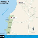 Map of Caesarea (Qesarya), Israel