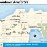 Travel map of Downtown Anacortes, Washington
