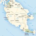Travel map of Washington's San Juan Island
