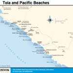 Map of Tola and Pacific Beaches in Nicaragua