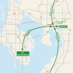 Travel map of Driving Distances to the Tampa Bay Area