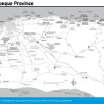 Travel map of Mayabeque Province, Cuba