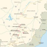 Travel map of Minas Gerais, Brazil