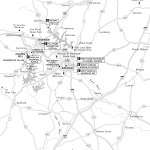 Map of Raleigh and the Triangle, North Carolina