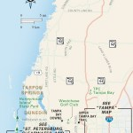 Travel map of Tampa Bay Area, Florida