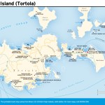Travel map of East Island Tortola, Virgin Islands
