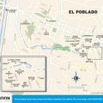 Travel map of El Poblado, Colombia
