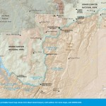 Travel map of the Havasupai and Hualapai Reservations near the Grand Canyon