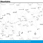 Travel map of the Uinta Mountains in Utah