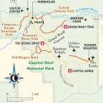 Travel map of The Scenic Drive in Capitol Reef National Park in Utah
