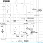 Map of Downtown Raleigh, North Carolina