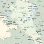 Travel map of North Cascades National Park, Washington