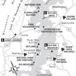 Map of the Blue Ridge Whiskey Wine Loop