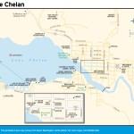 Travel map of Lake Chelan