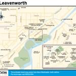 Travel map of Leavenworth, Washington