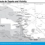 Travel map of Peninsula de Zapata and Vicinity, Cuba