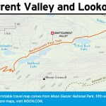 Travel map of Swiftcurrent Valley and Lookout