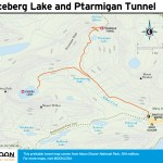 Travel map of Iceberg Lake and Ptarmigan Tunnel