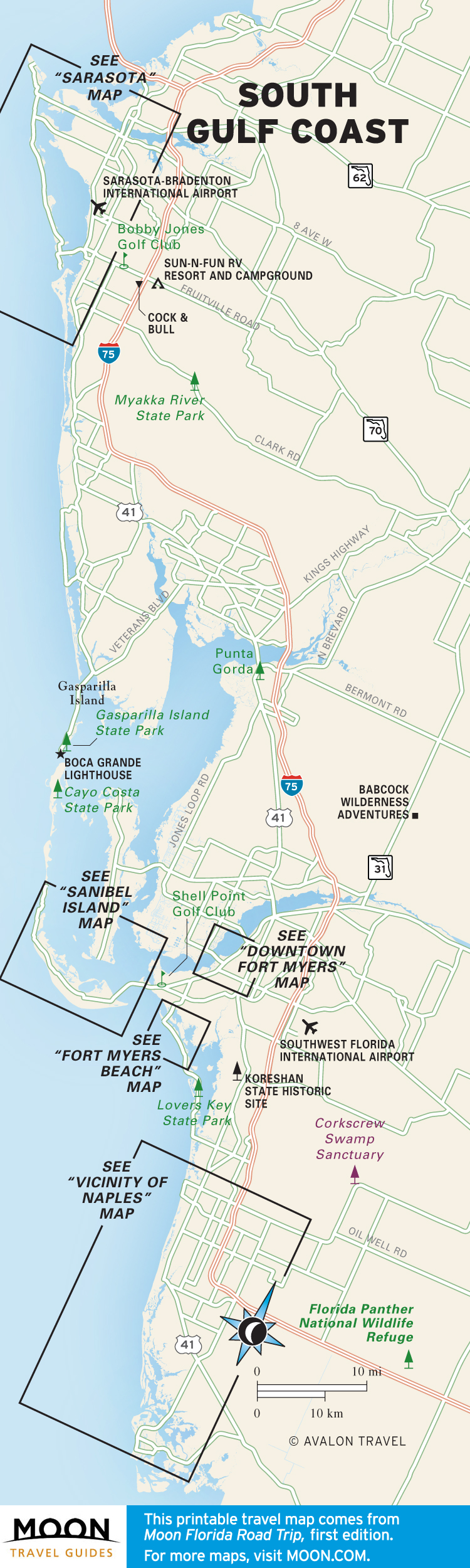 photograph relating to Printable Map of Florida identified as Florida Moon Push Publications