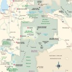 Travel map of the South Cascades, Washington