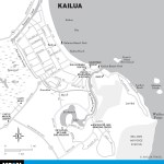 Map of Kailua, Hawaii