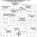 Travel map of Downtown Galveston, Texas