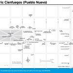 Travel map of Historic Cienfuegos (Pueblo Nuevo), Cuba