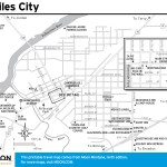 Travel map of Miles City, Montana