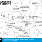 Map of Greensboro and Vicinity, North Carolina