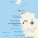 Map of Beaches and Islands near La Paz, Mexico