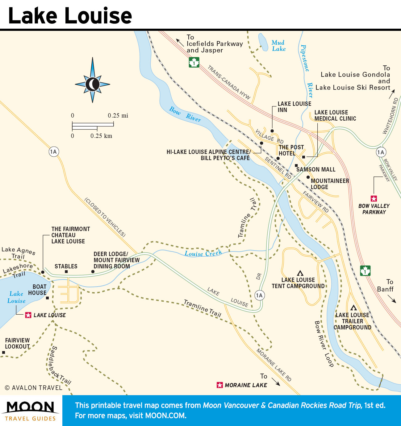 Map Of Canada Lake Louise.Best Of Lake Louise In One Day Moon Travel Guides