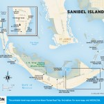 Travel map of Sanibel Island, Florida