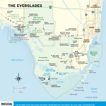 Travel map of The Everglades, Florida.