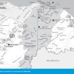 Travel map of the Mosquita and Olancho, Honduras