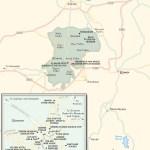 Travel map of the Cappadocia Region