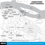 Map of Downtown Chattanooga, TN