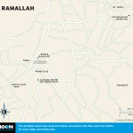 Map of Ramallah, Israel