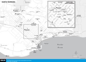 map of Santa Barbara in california