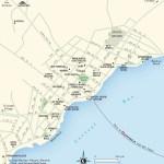 Map of Corozal Town. Belize