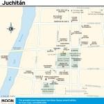 Travel map of Juchitán, Oaxaca