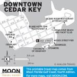 Travel map of Downtown Cedar Key, Florida