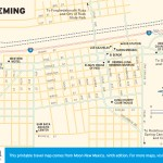 Travel map of Deming, New Mexico