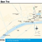 Travel map of Ben Tre in Vietnam