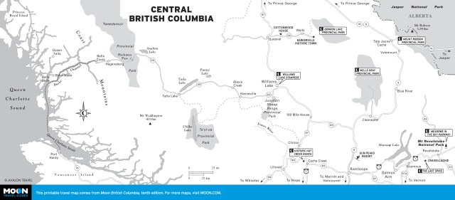 Map of Central British Columbia