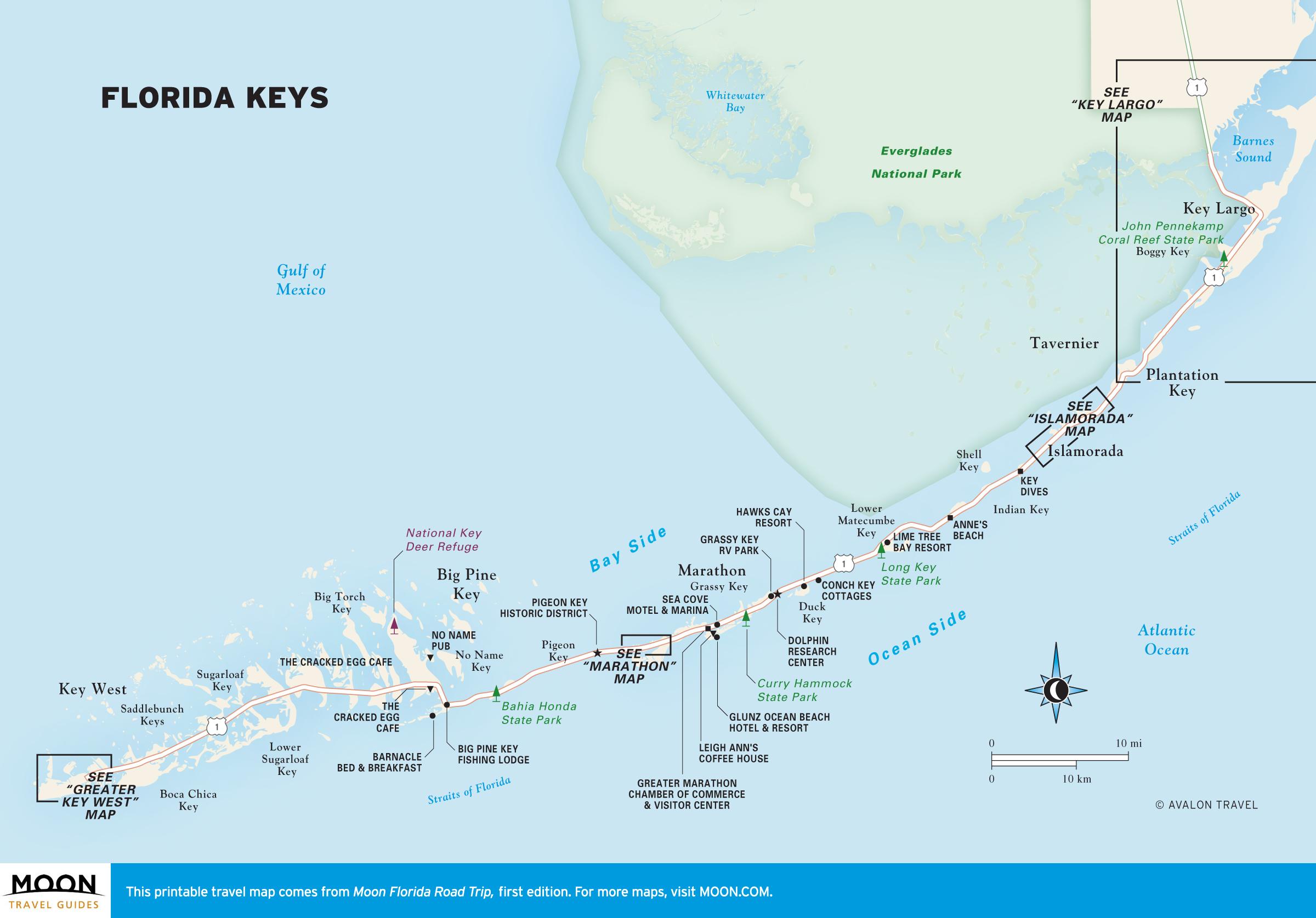 Map Of Florida And Florida Keys.One Week Florida Keys Road Trip Itinerary Moon Travel Guides