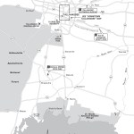 Travel map of Tallahassee, Florida.
