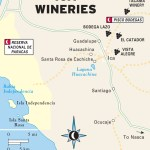 Color travel map of ICA Wineries in Peru