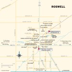 Travel map of Roswell, New Mexico